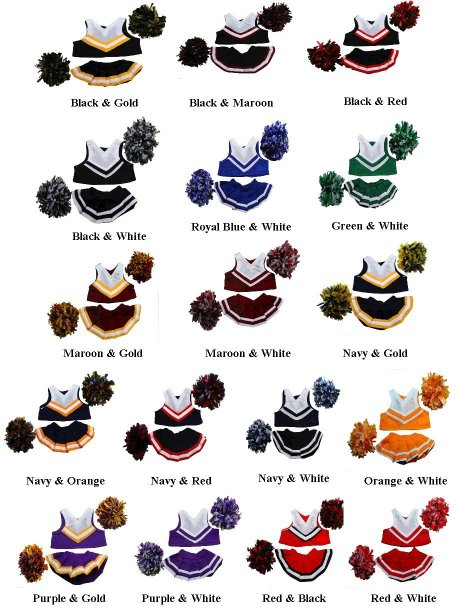 Stuff A Plush Cheerleading Outfit Pom Poms For 8 Plush